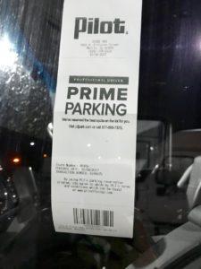 Reserved parking receipt